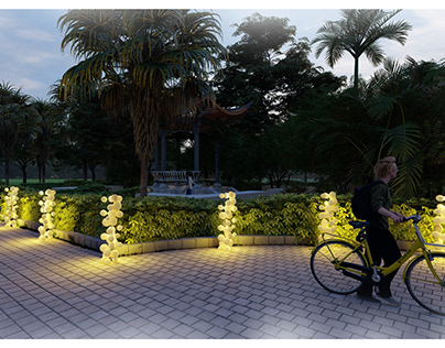 The Panellus Outdoor lighting unit