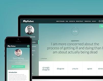 MYVALUES - UI/UX App Design