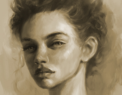 Digital Painting Head Study