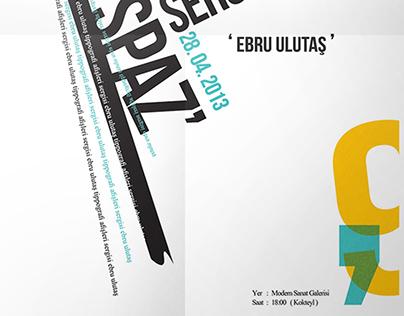 Tipografi Sergi Afişi