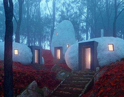 Dolmen Shelter by Davit & Mary Jilavyan / LEMEAL Studio