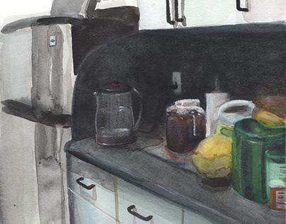 Interiors in Watercolor