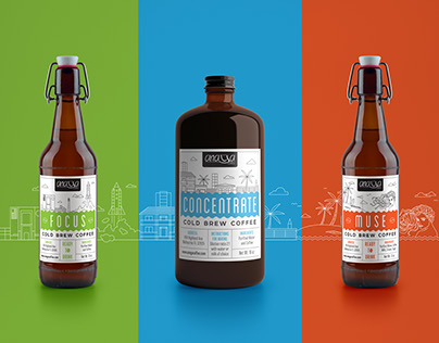 Cold Brew Coffee Labels for Anaya Coffee