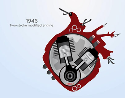 Motion design. Honda brand