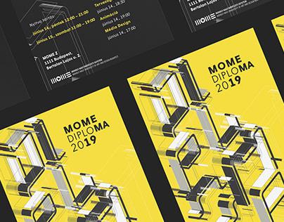 MOME Diploma 2019 branding