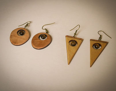 earrings - wood