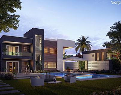 Villa Square Backyard