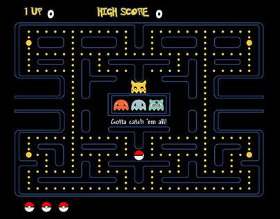 Pac-man/Pokémon Crossover