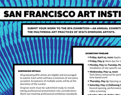SFAI 2014 BFA Exhibition - Call for Entry