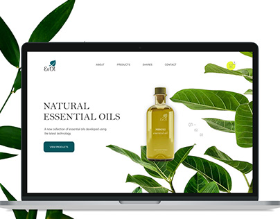 Natural Essential oils | Landing page