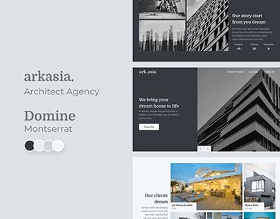 arkasia - Architect web design explorations