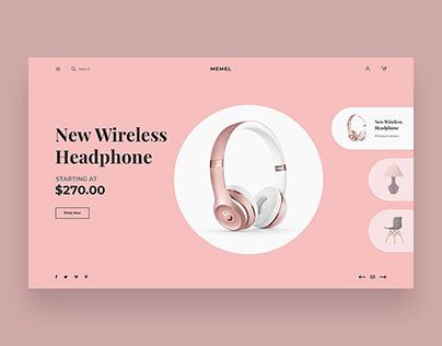 Minimal Ecommerce Website Header