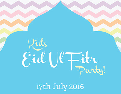 Kids Eid Party Poster