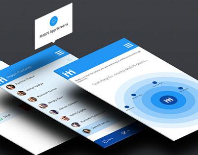 Meishi Android Phonebook App UI/UX Design