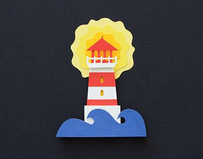 Lighthouse | stop motion animation