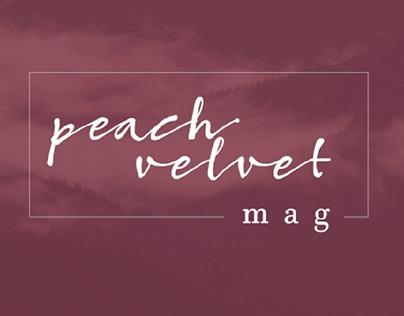 Peach Velvet Magazine - Brand Identity