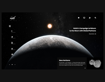 NASA Home Page Redesign.