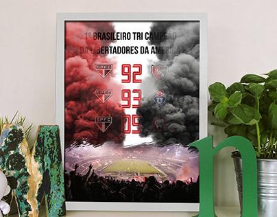 Poster São Paulo - Libertadores