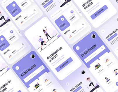 Free Work Out Fitness App UI Kit