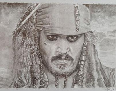 Jack Sparrow de la saga Pirates des Caraïbes