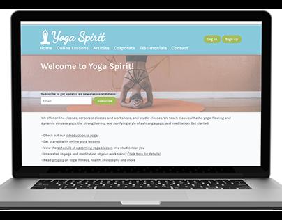 Yoga Spirit landing page concept