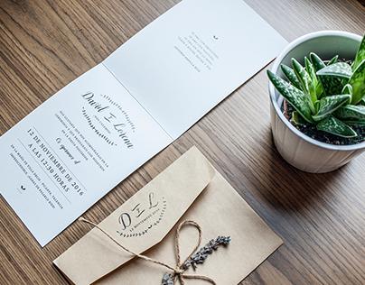 LORENA & DAVID - Wedding invitation
