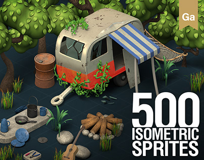 Isometric 3D Game Sprites – Manor Cafe