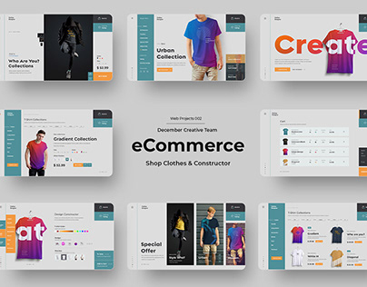 eCommerce Website. Store Clothing & Constructor (PSD)
