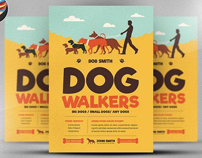 Dog Walkers Flyer Template