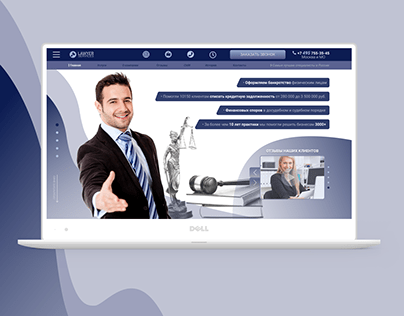 UI/UX: Web design: Lawyer services