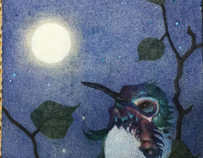 ART WORK :: BIRD BIRD MOON