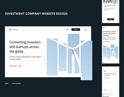 Investment company UX/UI design
