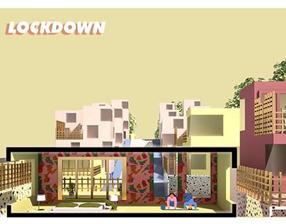 Covid 19 Lockdown Malaysia Illustration