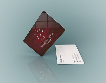 Plastic business card mockup