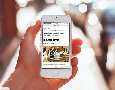 Dark Rye Welcome Email