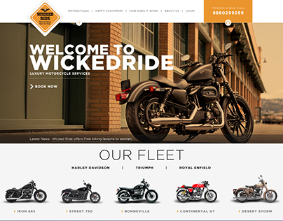 Wicked Ride Luxury Motorcycle Rentals Website