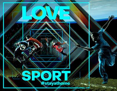 #Stayathome Sports ident