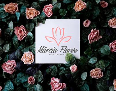 logotipo criado para Márcia flores