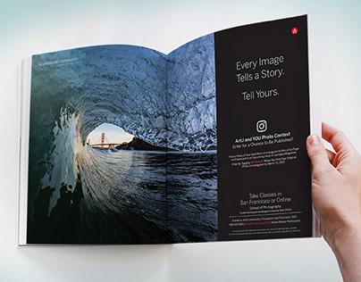 Double Spread Magazine Ad