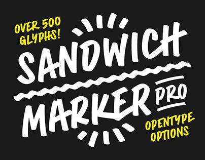 Sandwich Marker Pro Font