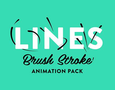 Lines - Brush Stroke Animation Pack