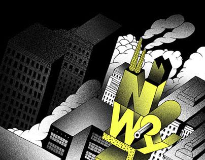 "Illustrations for ""Cwiszn"" magazine."