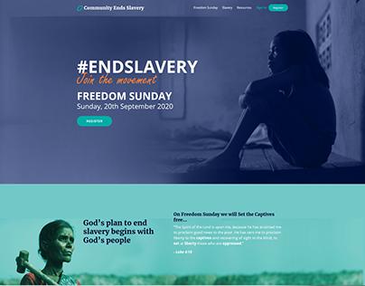 Community Ends Slavery UI Designs