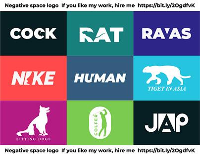 Negative space logo design