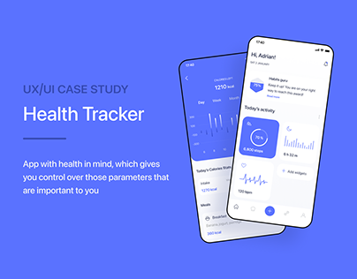 UX/UI Case Study Health Tracker