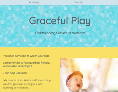 Graceful Play Landing Page