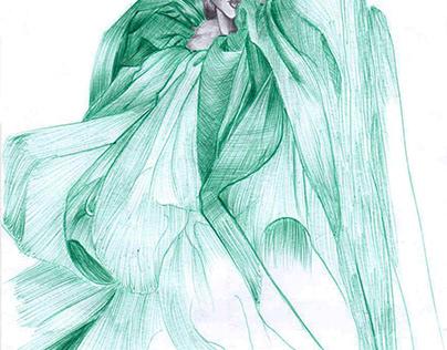 Illustration Stylo bille/crayon