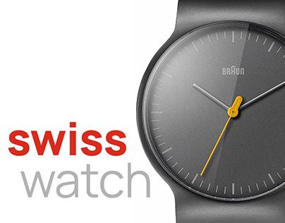 Landing Page для магазина часов Swiss Watch