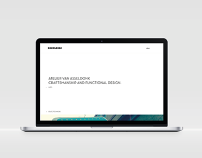 Atelier van Asseldonk - webdesign