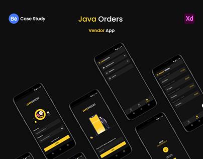 Java Orders Vendor App Case Study